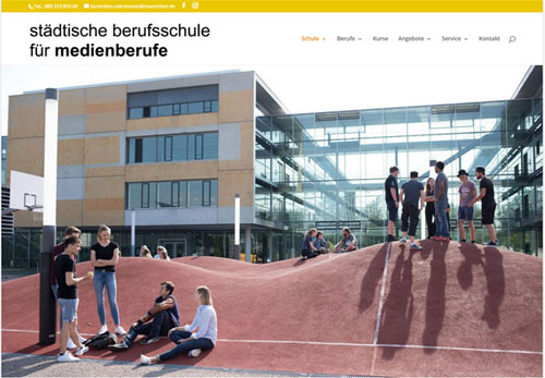 Redesign Städtische Berufsschule für Medienberufe München