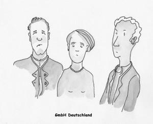 Karikatur Gesellschaft