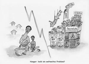 Karikatur Welthunger